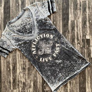 Affliction Distressed Burnout Tee